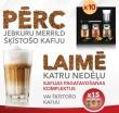 Loterija - Merrild - Dzer kafiju un laimē katru nedēļu!